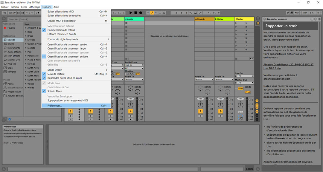 tutoriel-senstroke-Ableton-live-options