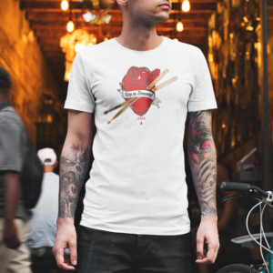 tshirt-keep-on-drumming-heart-lifestyle
